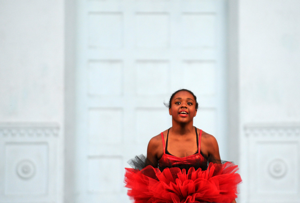 Description of . Brockus: RED dance company performs on Tuesday, July 22, 2014 at the Redlands Bowl in Redlands, Ca. (Micah Escamilla/Redlands Daily Facts)