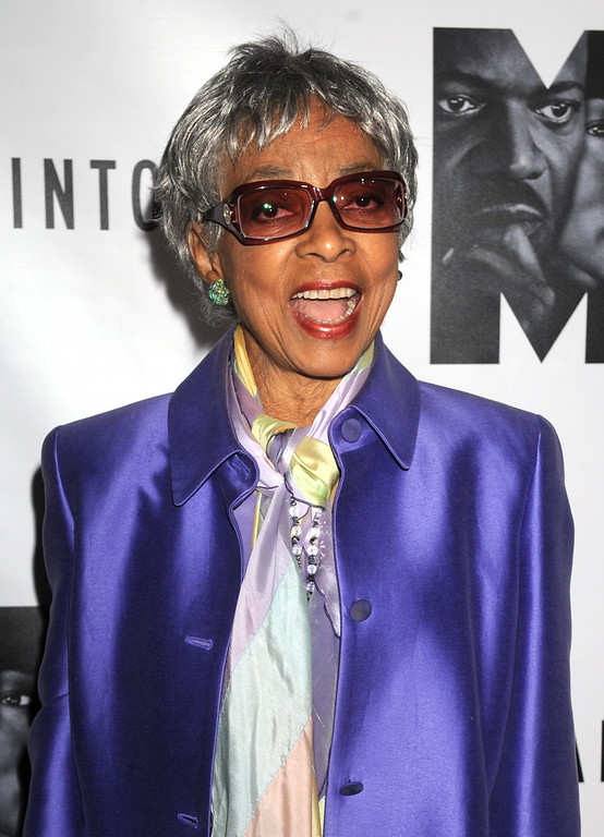 Description of . In this Oct. 13, 2011 file photo, actress Ruby Dee attends the Broadway premiere of