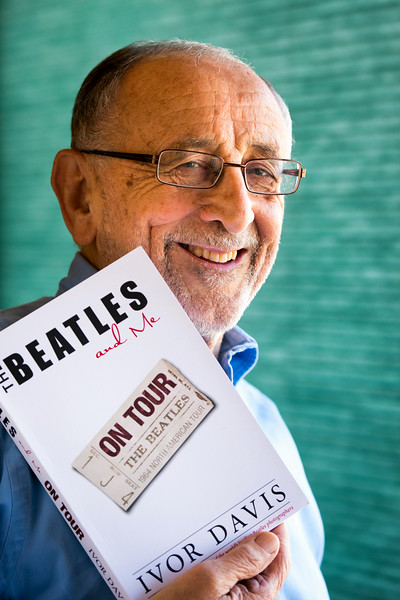 "Description of . Longtime entertainment reporter Ivor Davis has written a book, ""The Beatles and Me on Tour,"" about his adventures with the lads while he was covering their 1964 summer tour of America. Tuesday, August 26, 2014. (Photo by Michael Owen Baker/Los Angeles Daily News)"
