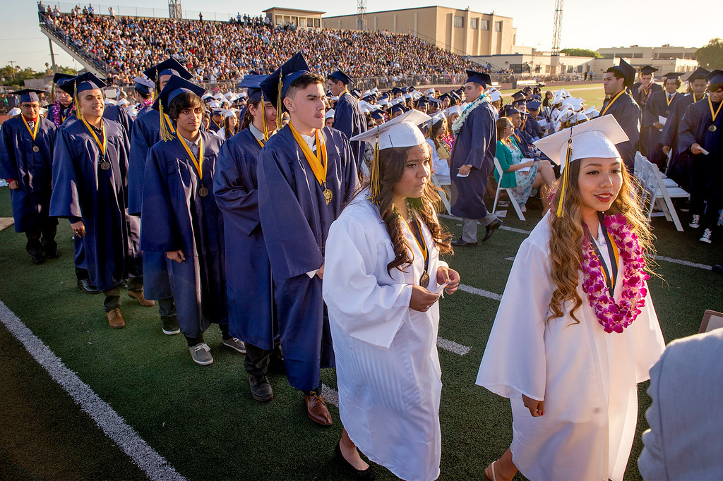 Description of . Montebello High School Class of 2014 commencement exercises June 19, 2014.  (Staff photo by Leo Jarzomb/Whittier Daily News)