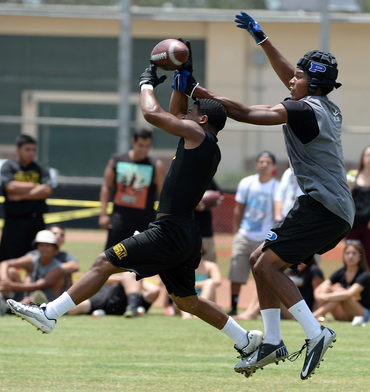 Description of . Santa Fe vs. Pacifica during a passing league game during the Tournament of Champions at Santa Fe High School in Santa Fe Springs, Calif., on Saturday, July 12, 2014.   (Keith Birmingham/Pasadena Star-News)