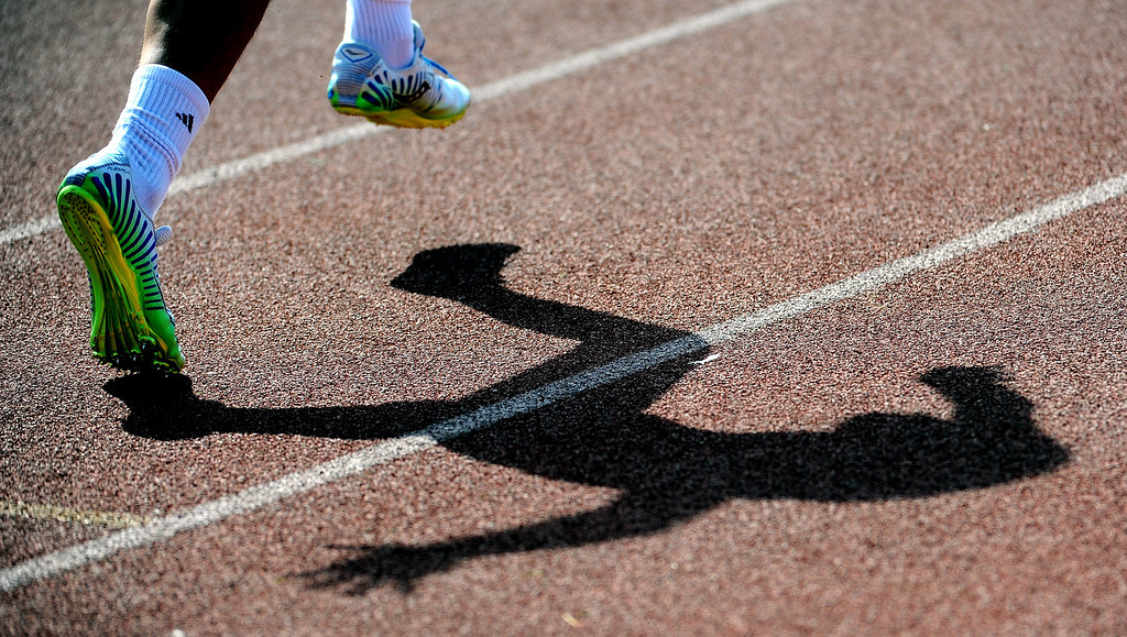 Description of . The start of the 400 meter run during the Hacienda League track finals in Walnut, Calif., on Thursday, May 8, 2014.  (Keith Birmingham Pasadena Star-News)