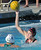 02-16-2012--(LANG Staff Photo by Sean Hiller)- Palos Verdes girls water polo defeated Upland 10-8 in Saturday's CIF Southern Section Division III quarterfinal at Palos Verdes High School. Kirsten Gargas looks to shoot over Amanda Jarvis.