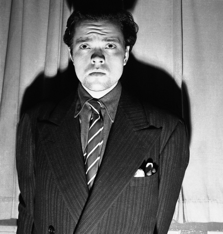 Description of . Orson Welles, radio and stage actor, whose dramatization, Oct. 30, 1938 of an H. G. Wells novel titled