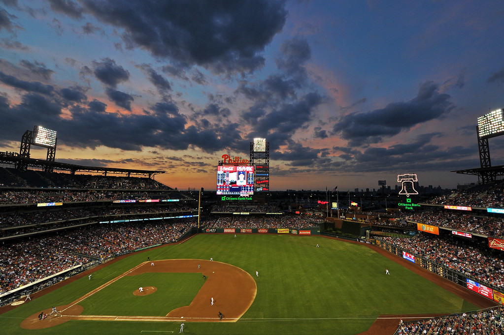 Description of . PHILADELPHIA, PA - AUGUST 16: A general view of Citizens Bank Park during the game between the Los Angeles Dodgers and Philadelphia Phillies on August 16, 2013 in Philadelphia, Pennsylvania. (Photo by Drew Hallowell/Getty Images)