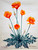 This Calfiornia poppy was painted by Henry Mockel in te 1960's. It is a watercolor on paper.