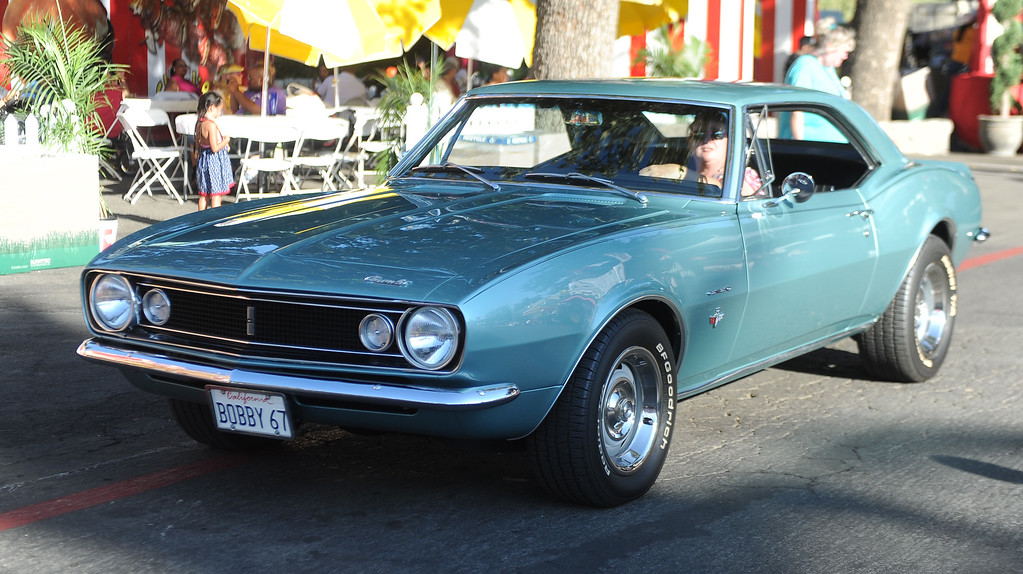 Description of . A 1967 Camaro during the Diamond Bar community parade during the 91st Annual L.A. County Fair in Pomona, Calif. on Thursday, Sept. 5, 2013.   (Photo by Keith Birmingham/Pasadena Star-News)