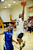 02-23-2012--(LANG Staff Photo by Sean Hiller)- Narbonne beat El Camino Real 47-39 in Saturday's L.A. City Section Division I semifinal girls basketball game. Kayla Brady dominates for Narbonne. Latecia Smith (3) goes to the basket over El Camino's 	Sukari Richardson (4).