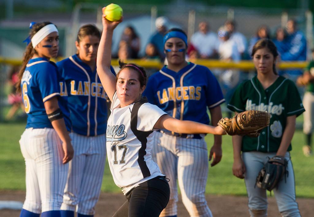 Description of . San Gabriel Valley all-star softball game at Diamond Bar High School on Monday, June 3, 2013. South team won 10-5. (Staff photo by Watchara Phomicinda/ Los Angeles Media News Group)