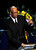 Kareem Abdul-Jabbar speaks at the Jerry Buss Memorial Service at Nokia Theatre, Thursday, February 21, 2013. (Michael Owen Baker/Staff Photographer)