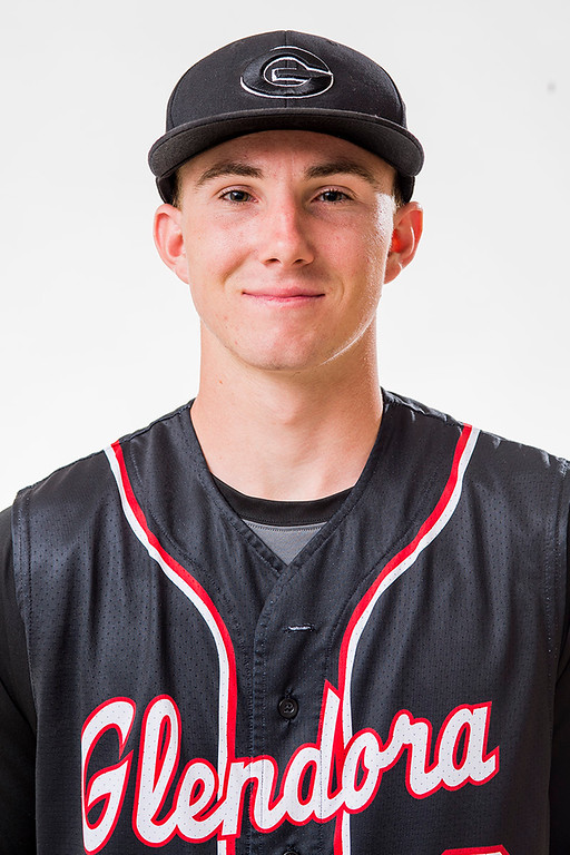 Description of . Glendora High's Kale Morton has been selected for the SGV Tribune's All-area Baseball Team June 10, 2014.   (Staff photo by Leo Jarzomb/San Gabriel Valley Tribune)