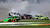 Driver Danica Patrick (7) spins as she crashes along with Colin Braun (16), Robert Richardson Jr (23) and Stanton Barrett (31) during the NASCAR DRIVE4COPD 300 Nationwide series auto race at Daytona International Speedway in Daytona Beach, Fla., Saturday, Feb. 13, 2010. (AP Photo/Terry Renna)