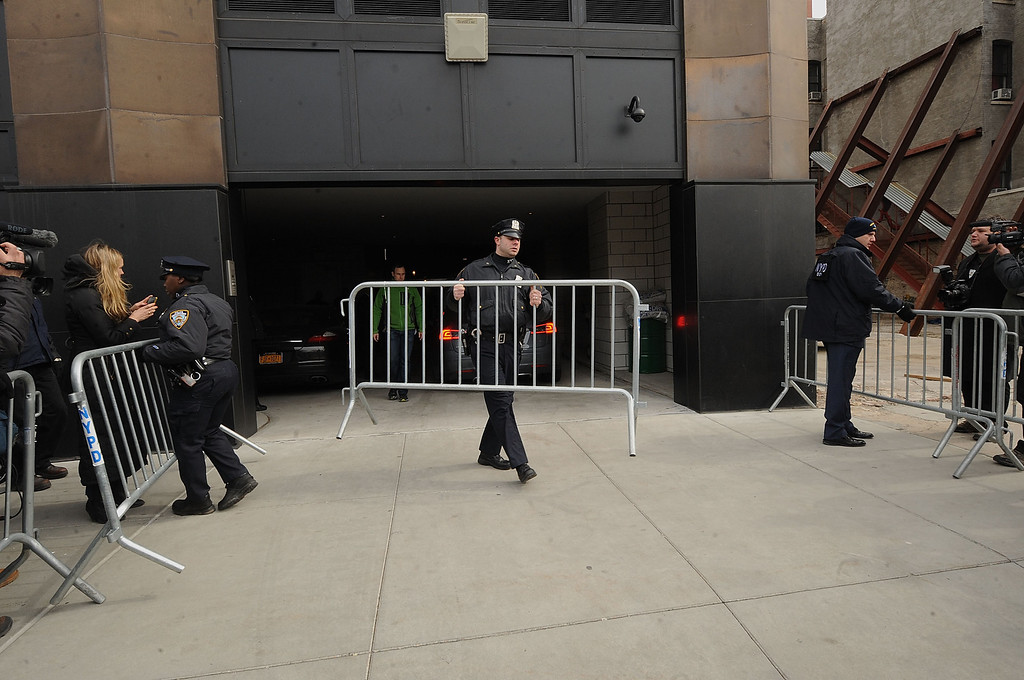 Description of . NEW YORK, NY - MARCH 17:  A gerneral overview at The scene outside the Chelsea apartment building on March 17, 2014 in New York City, where fashion designer L'Wren Scott, 47, was found dead from an apparent suicide.  (Photo by Brad Barket/Getty Images)