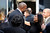Magic Johnson is greeted outside the Jerry Buss Memorial Service at Nokia Theatre, Thursday, February 21, 2013. (Michael Owen Baker/Staff Photographer)