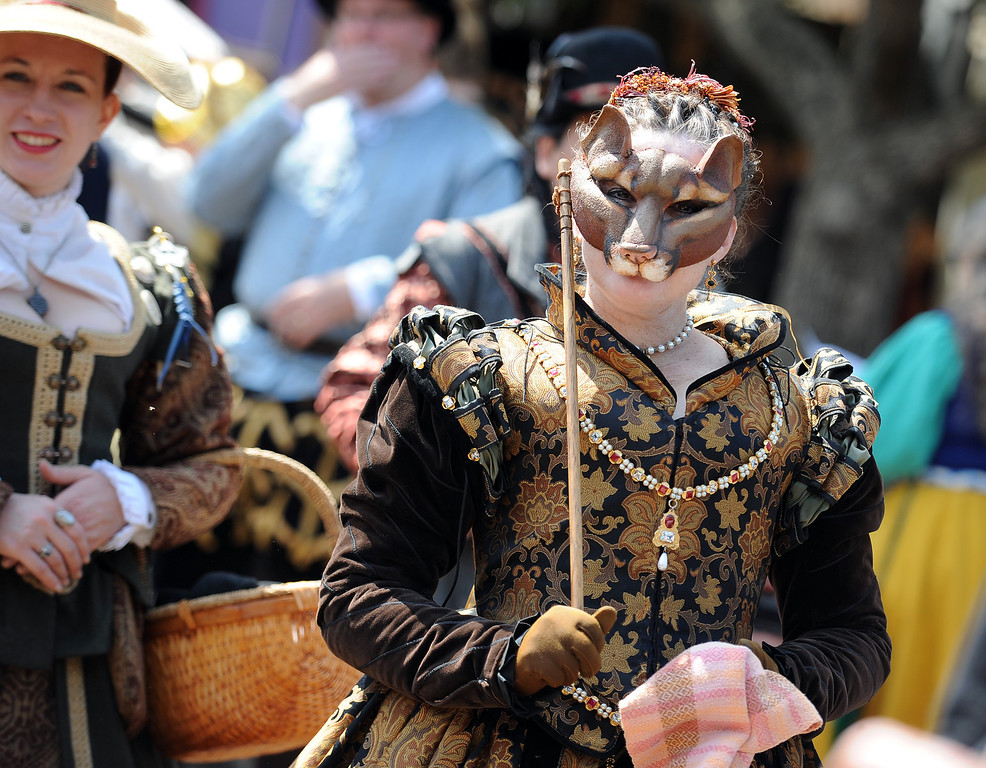 Description of . Opening day of the Renaissance Pleasure Faire at Santa Fe Dam Recreation Area in Irwindale, Calif., on Saturday, April 5, 2014. 