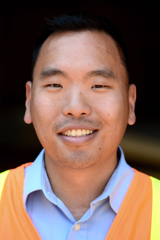 Description of . Ricky Choi, community relations project manager of ACE. The Alameda Construction East railroad underpass at Baldwin Avenue and Gidley Street in El Monte is halfway complete as seen on Friday, May 16, 2014.  The 2-year project, which closed Baldwin Avenue, is one of 22 underpasses, from Los Angeles to Pomona, that are done or expected to be completed by 2019. (Photo by Sarah Reingewirtz/Pasadena Star-News)