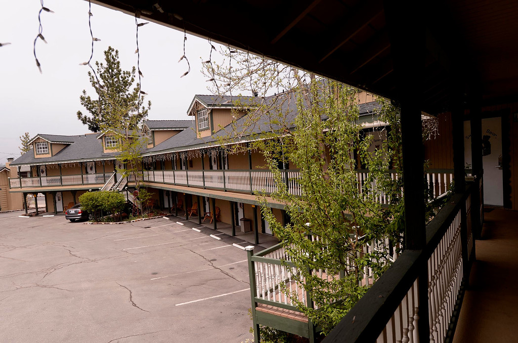 Description of . A view of a David Stone's Fireside Lodge in Big Bear Lake May 6, 2013.  The lodge has 31 rooms and is located on Big Bear Lake.  David Stone has a vision transforming Big Bear into a more upscale tourist town.  GABRIEL LUIS ACOSTA/STAFF PHOTOGRAPHER.
