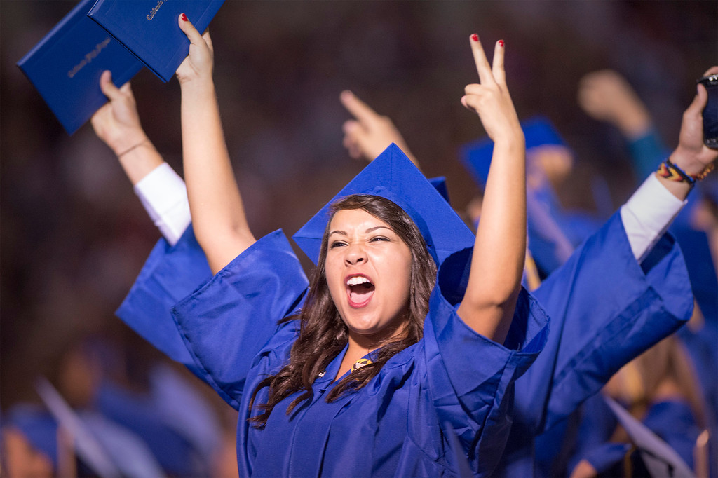 Description of . California High graduation at their Whittier campus stadium June 13, 2013.   (SGVN staff photo by Leo Jarzomb)