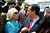 Irene Wongpec(cq), of Eagle Rock, greets mayoral candidate Eric Garcetti following a press conference at Van de Kamp's Innovation Campus in Los Angeles, Wednesday, March 6, 2013. (Michael Owen Baker/Staff Photographer)