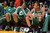 Celtics' watch the clock run down as they are defeated by the 113-99.  Photo by David Crane/Staff Photographer