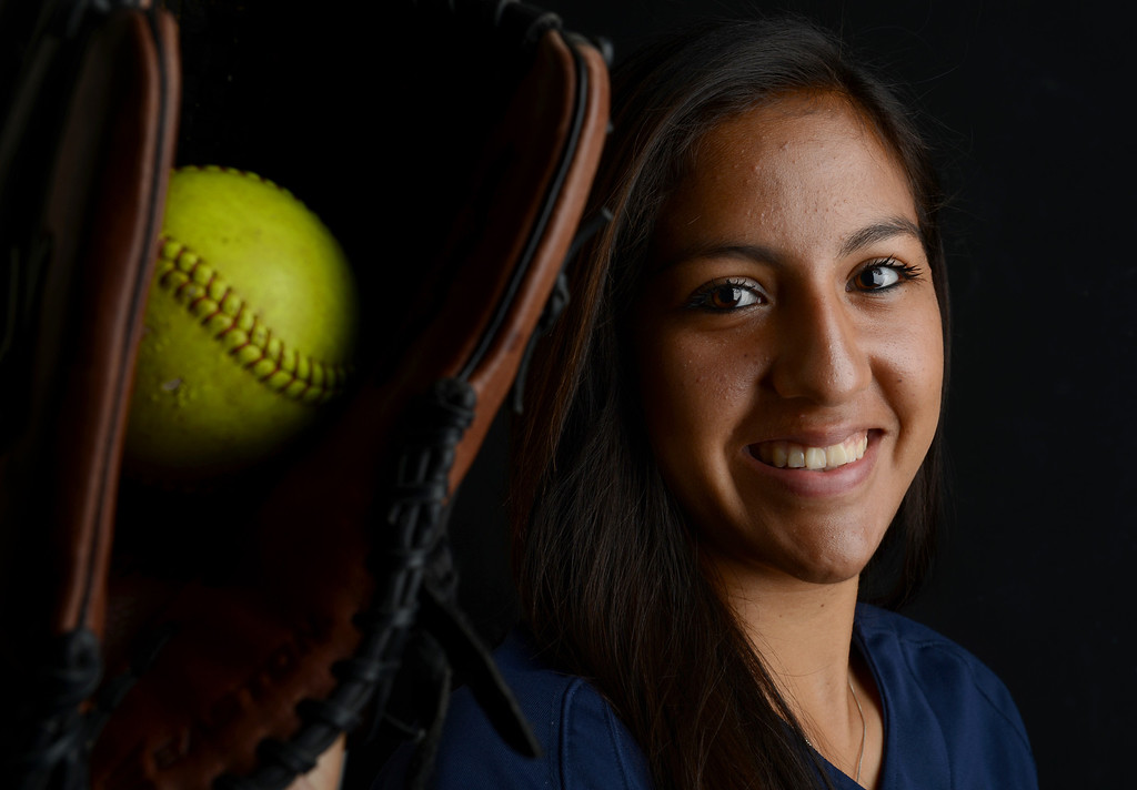 Description of . Zoe Casas has been named Player of the Year to The Sun's All-Area softball team. Casas plays softball for Aquinas High School. Jenn Maher staff photo The Sun.
