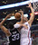 The Clippers' Blake Griffin #32 is fouled by the Spurs' Boris Diaw #33 during their game at the Staples Center in Los Angeles Friday, February  21, 2013. (Hans Gutknecht/Staff Photographer)