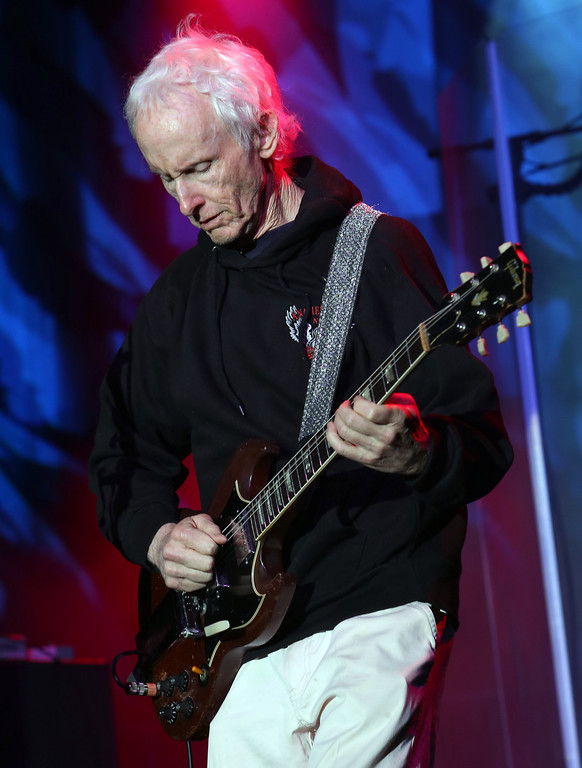 Description of . ANAHEIM, CA - JANUARY 25:  Guitarist Robby Krieger performs at the 2014 National Association of Music Merchants show at the Anaheim Convention Center on January 25, 2014 in Anaheim, California.  (Photo by Jesse Grant/Getty Images for NAMM)