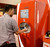 March 19,2013. Las Vegas NV. USA. Coca-Cola shows their new soft drink machine that offers up to 24 different kinds of drinks from one machine, during the 2013 International Pizza Expo.