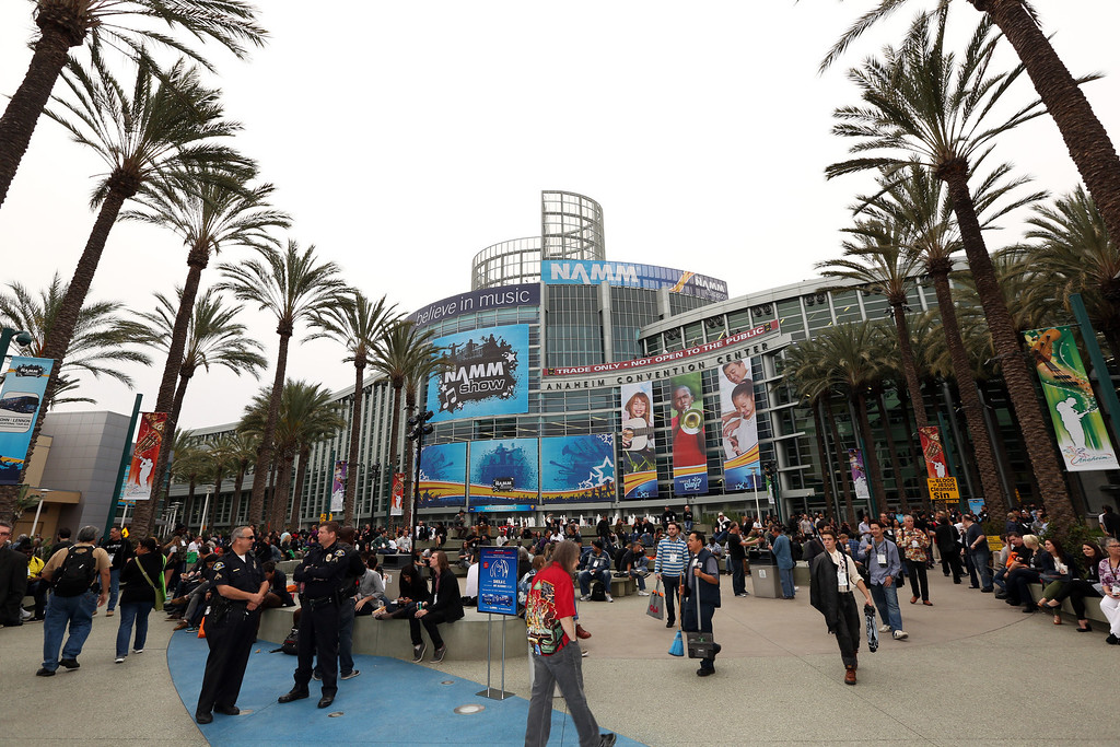 Description of . ANAHEIM, CA - JANUARY 24:  A general view of atmosphere at the 2014 National Association of Music Merchants show at the Anaheim Convention Center on January 24, 2014 in Anaheim, California.  (Photo by Jesse Grant/Getty Images for NAMM)