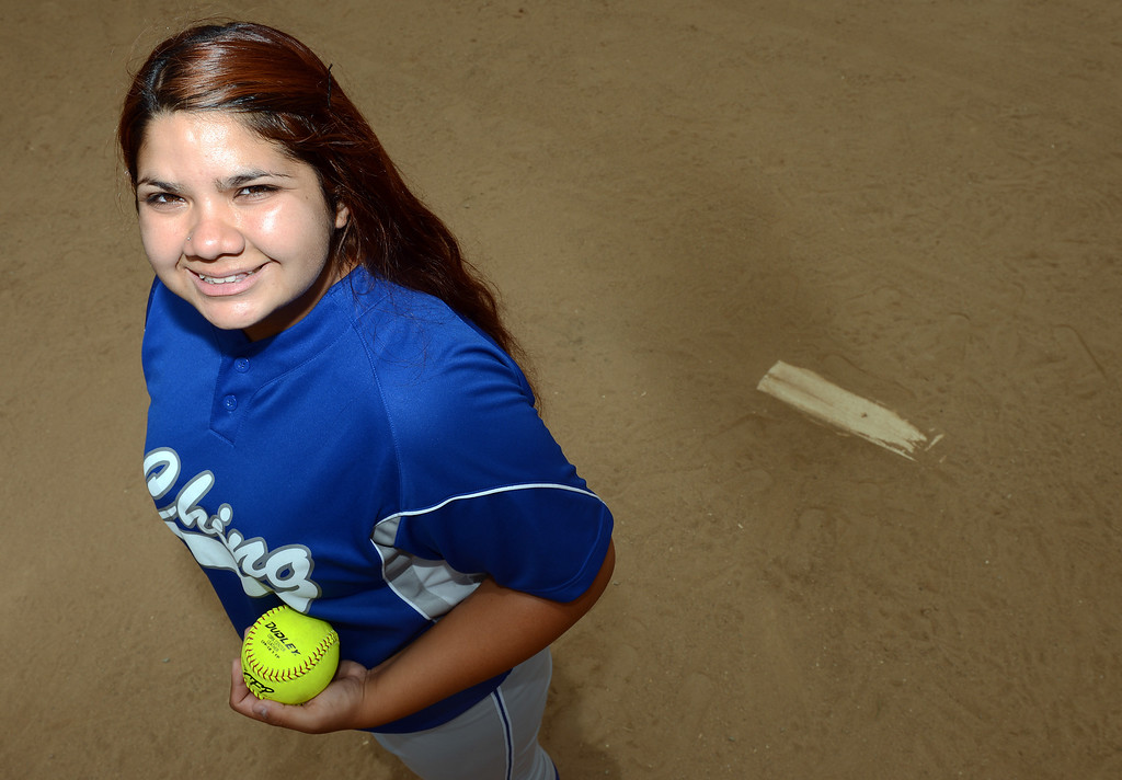 Description of . Miranda Viramontes has been named Player of the Year to the Inland Valley Daily Bulletin's All-Area softball team.  Viramontes is a junior at Chino High School. Will Lester staff photo Inland Valley Daily Bulletin.