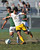 2/13/13 - Andrew Perez of Narbonne High School battles for the ball against  Damian Rivera of Kennedy during the L.A. City Section Division I playoffs. Narbonne won 1-0. Photo by Brittany Murray / Staff Photographer