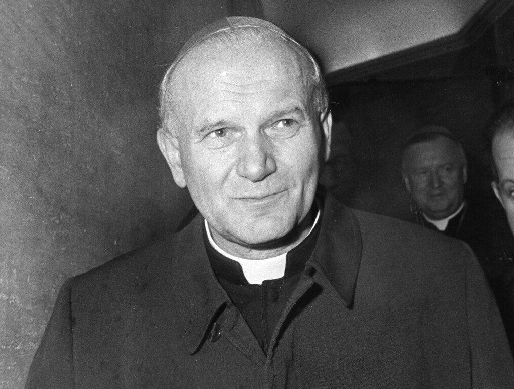 Description of . Karol Cardinal Wojtyla from Poland has been elected Oct. 16, 1978 as the 264th Pope, and is pictured Oct. 3, 1978 in Vatican City, a day before the funeral of late Pope John Paul I. The new Pope has chosen the name Pope John Paul II. (Ap Photo)
