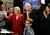 Wendy Greuel with her husband Dean Schramm and son Thomas Schramm,9. Greuel held her election night party at the Los Angeles Brewing Company in downtown Los Angeles, CA 3/5/2013(John McCoy/Staff Photographer)