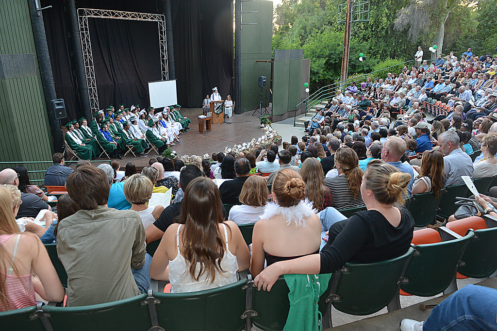 Description of . The Grove School in Redlands graduates the Class of 2014 Thursday June 12, 2014  in the Avice Meeker Sewall Theater in Prospect Park, Redlands. (Photo by Rick Sforza/Redlands Daily Facts)