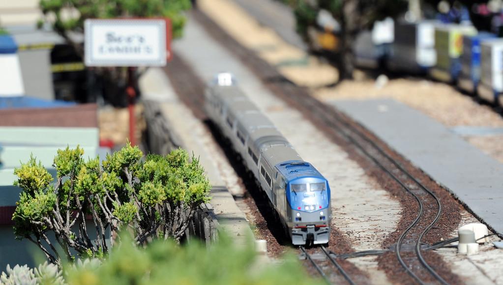 Description of . Garden Railroad during the 91st Annual L.A. County Fair in Pomona, Calif. on Thursday, Sept. 5, 2013.   (Photo by Keith Birmingham/Pasadena Star-News)