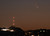 March 12,2013. Los Angeles CA.  The comet Pan-STARRS as seen on the western coast of Southern California with the waxing crescent  moon Tuesday evening.  The comet will be visible through the end of March.