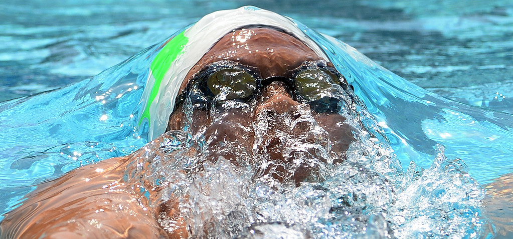Description of . Upland's Sonia Wang wins the 200 yard freestyle during the Division 2 CIF Southern Section Swimming Championships in the Riverside Aquatics Complex at Riverside City College in Riverside, Calif., on Saturday, May 17, 2014.