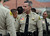 San Bernardino County Sheriff-Coroner John McMahon greets his deputies prior to the funeral procession for Jeremiah MacKay. Law enforcement and fire agency officials from around California and at least three other states get ready to form the funeral procession for San Bernardino Sheriff's Detective Jeremiah MacKay Thursday February 21, 2013 at Mt View Cemetery in San Bernardino.