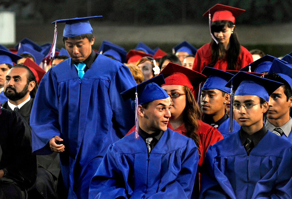 Description of . Los Altos High School's 53 Commencement Ceremonies held in the Patrick Mauch Memorial Stadium, Tuesday, May 21, 2013.  (Correspondent photo/Mike Mullen)