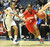 02-27-2012--(LANG Staff Photo by Sean Hiller)- Serra vs. Windward in Wednesday's girls basketball CIF SS Div. 4AA title game at the Anaheim Convention Center Arena in Anaheim. Serra's Siera Thompson (3) drives against Windward's Courtney Jaco (10).