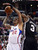 The Clippers' Matt Barnes #22 has his shot blocked by the Spurs' Stephen Jackson #3 during their game at the Staples Center in Los Angeles Friday, February  21, 2013. The Spurs beat the Clippers 116-90. (Hans Gutknecht/Staff Photographer)