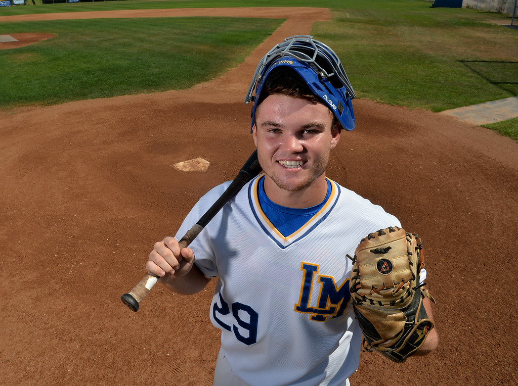 Description of . Jeff Murray from La Mirada High School is named the Whittier Daily News All-Area Baseball Player of the Year at La Mirada High School on Monday June 9, 2014. (Photo by Keith Durflinger/Whittier Daily News)