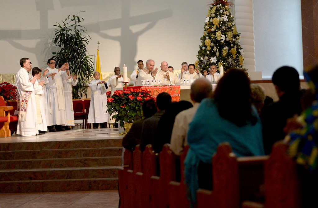 Description of . Sacred Heart Church in Rancho Cucamonga held the 8th annual Diocesan Migration Mass, lead by Bishop Gerald Barnes at, Sunday, Jan. 12, 2014.