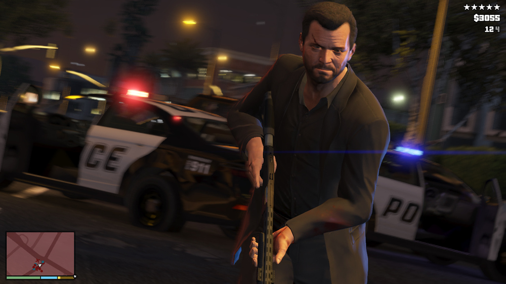 Description of . This publicity photo released by Rockstar Games shows a screen shot from the video game,