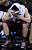 Montana guard Jordan Gregory covers his face as he sits on the bench during the second half of a second-round game in the NCAA college basketball tournament against Syracuse in San Jose, Calif., Thursday, March 21, 2013. Syracuse won 81-34. (AP Photo/Ben Margot)