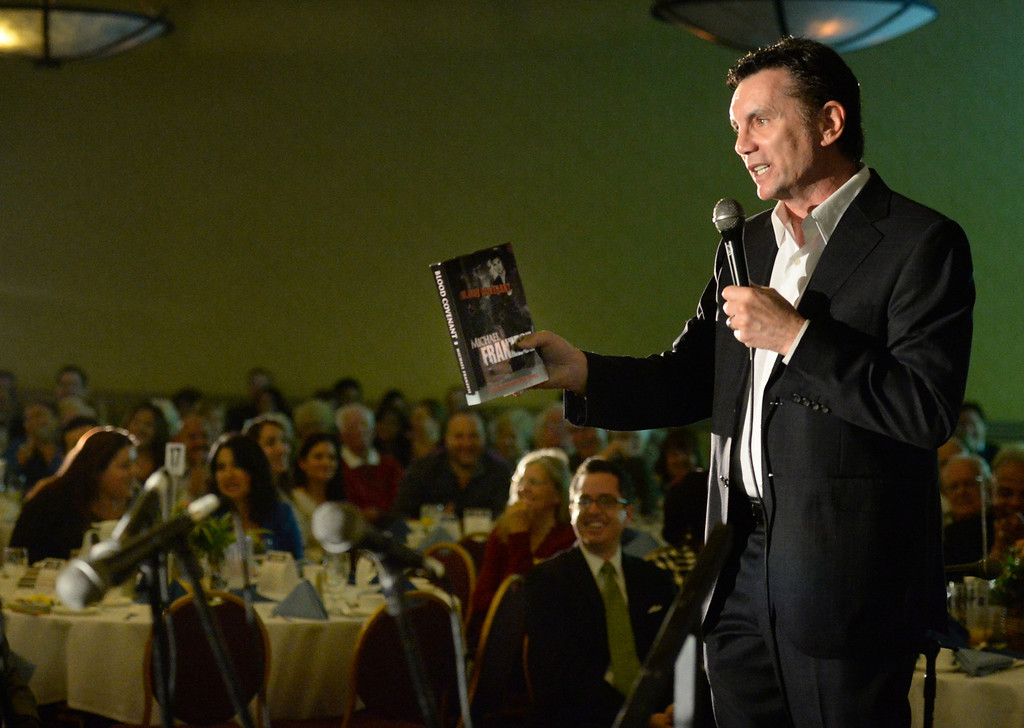 Description of . Former mob boss, Michael Franzese, talks about his life during the 49th annual Mayor's Prayer Breakfast at the Radisson Hotel Whittier on Friday April 18, 2014. The prayer breakfast is modeled after the National Prayer Breakfast in Washington D.C. and was started in Whittier in 1965 . (Staff Photo by Keith Durflinger/Whittier Daily News)