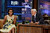 This Monday, Aug. 13, 2012 photo released by NBC shows first lady Michelle Obama, left, and host Jay Leno during a taping of