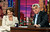 Nancy Pelosi, D-Calif., Speaker of the House of Representatives, appears with host Jay Leno during a taping of