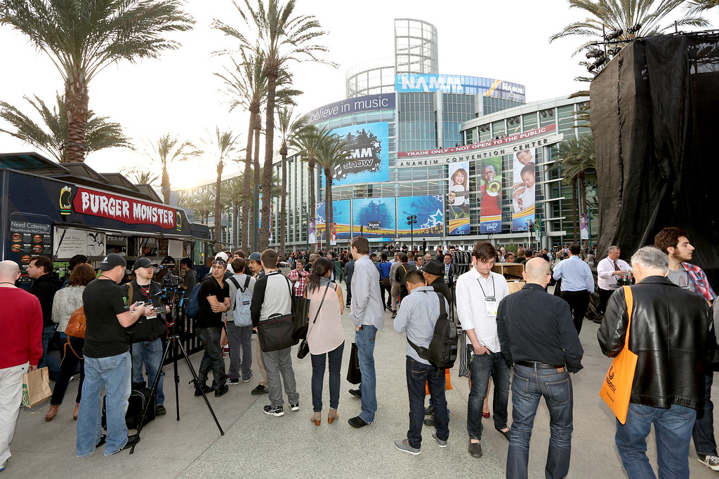 Description of . attends the 2014 National Association of Music Merchants show media preview day at the Anaheim Convention Center on January 23, 2014 in Anaheim, California. (Photo by Jesse Grant/Getty Images for NAMM)