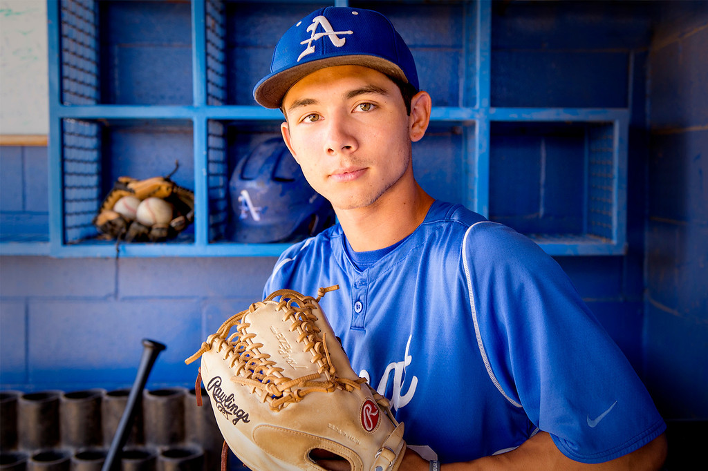 Description of . Bishop Amat High's Scott Hurst has been named as the San Gabriel Valley Tribune's Baseball Player of the Year June 12, 2014.   (Staff photo by Leo Jarzomb/San Gabriel Valley Tribune)